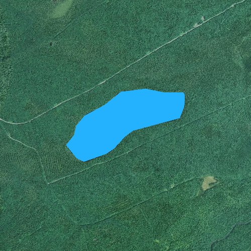 Fly fishing map for Coffeelos Pond, Maine