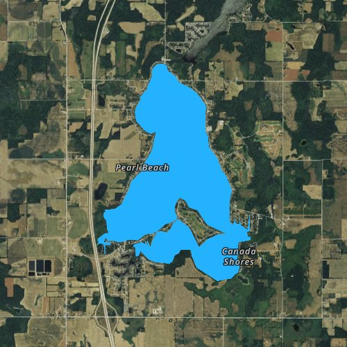 Fly fishing map for Coldwater Lake, Michigan