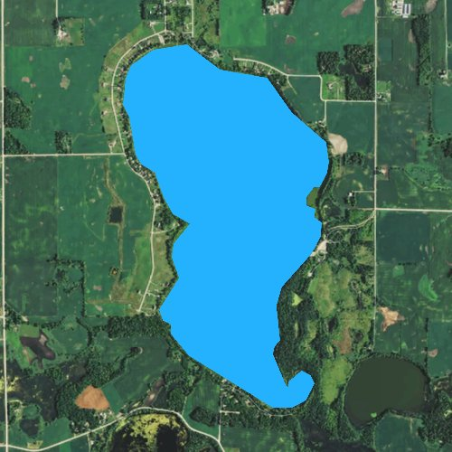 Fly fishing map for Collinwood Lake, Minnesota