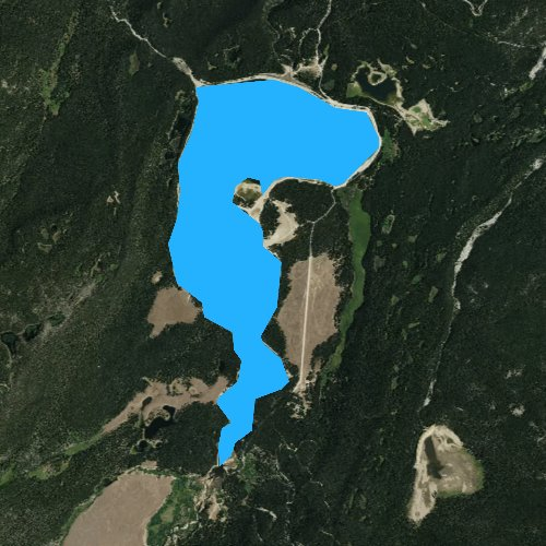 Fly fishing map for Colorado Colony Ditch Company Reservoir Number 2, Wyoming