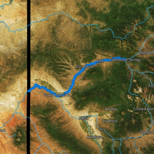 Fly fishing map for Colorado River: Lower, Colorado
