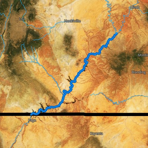 Fly fishing map for Colorado River: Lower, Utah