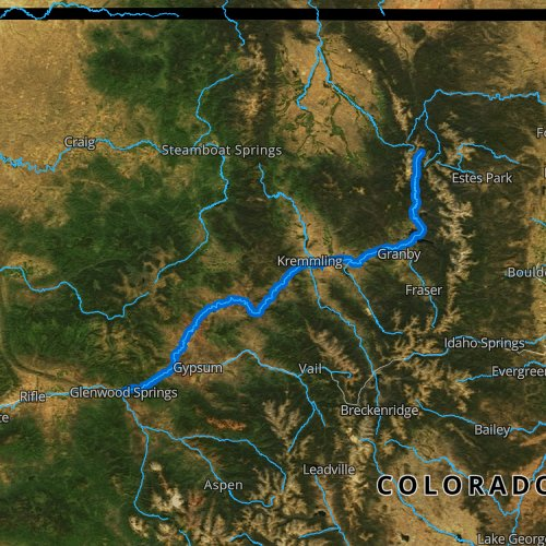 Fly fishing map for Colorado River: Upper, Colorado