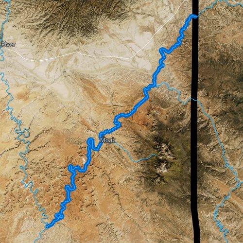 Fly fishing map for Colorado River: Upper, Utah