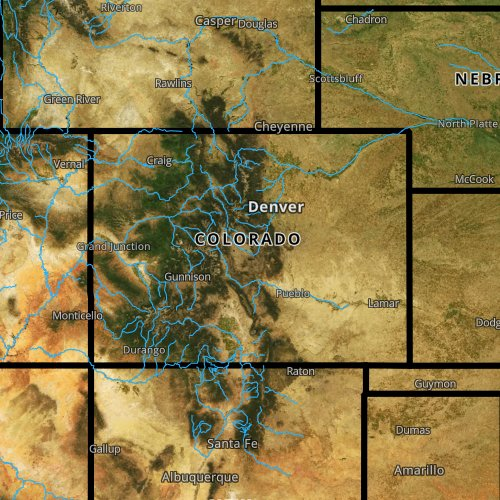 Fly fishing report and map for Colorado.