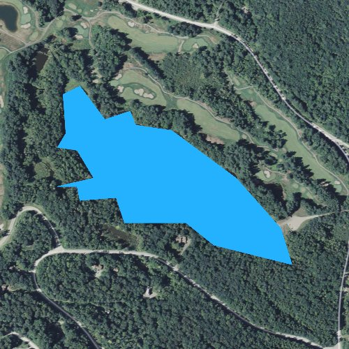 Fly fishing map for Colton Pond, Vermont