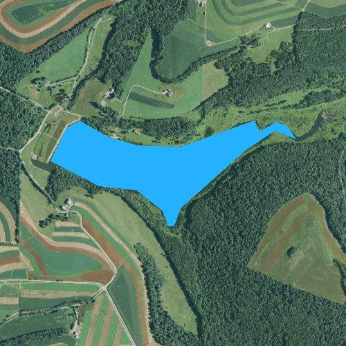 Fly fishing map for Colver Reservoir, Pennsylvania