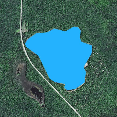 Fly fishing map for Colwell Lake, Michigan