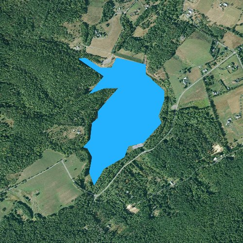 Fly fishing map for Colyer Lake, Pennsylvania