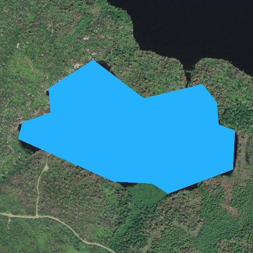 Fly fishing map for Comfort Lake, Minnesota