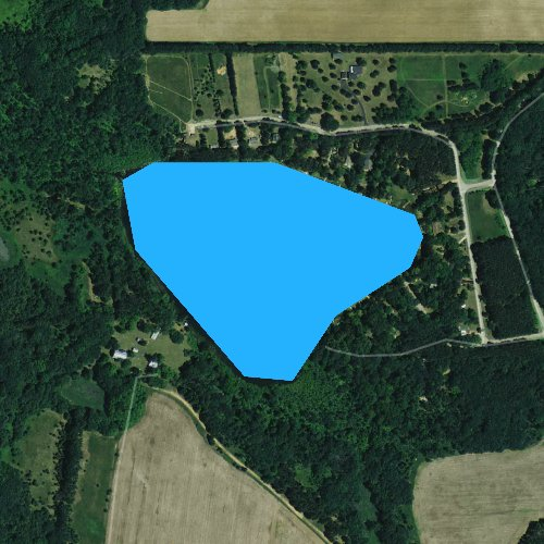 Fly fishing map for Comstock Lake, Wisconsin