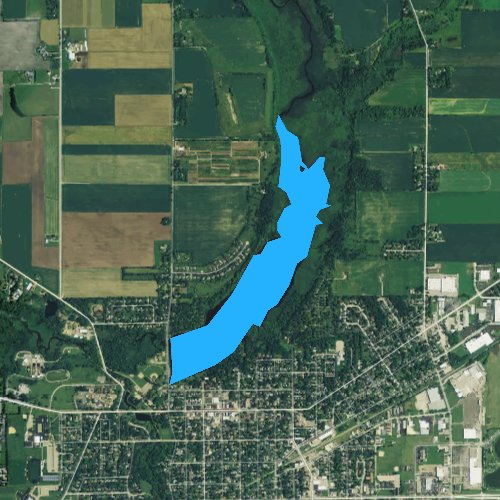 Fly fishing map for Comus Lake, Wisconsin