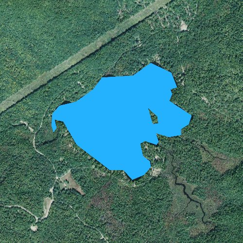 Fly fishing map for Concord Pond, Maine