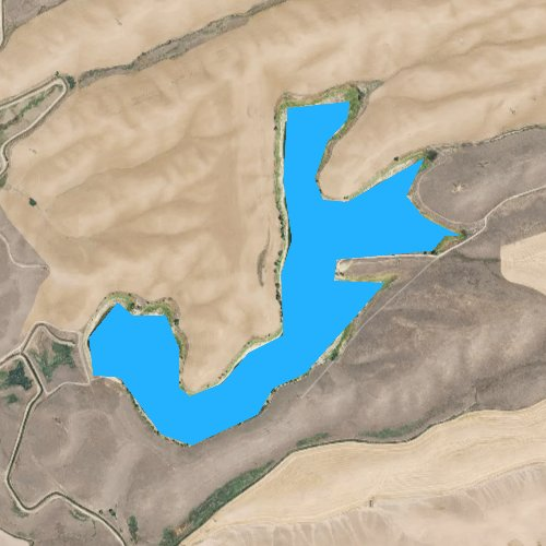 Fly fishing map for Condie Reservoir, Idaho