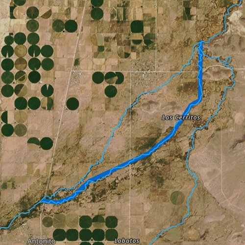 Fly fishing map for Conejos River, Colorado