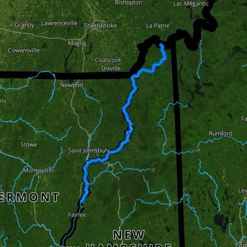 Fly fishing map for Connecticut River: Upper, Vermont
