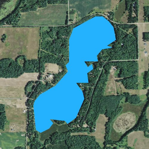 Fly fishing map for Conners Lake, Wisconsin