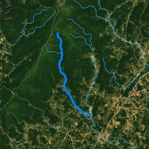 Fly fishing map for Conway River, Virginia