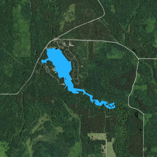 Fly fishing map for Coon Fork Lake 45, Wisconsin