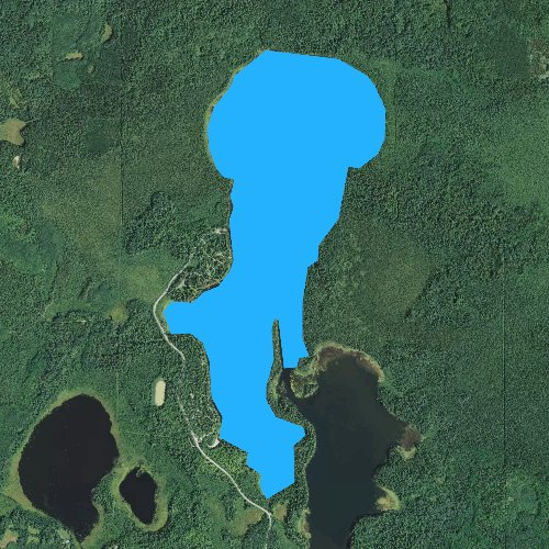 Fly fishing map for Coon Lake, Minnesota