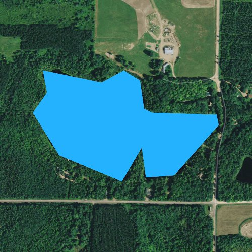 Fly fishing map for Copper Lake, Wisconsin