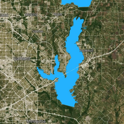 Fly fishing map for Corder Lake, Texas