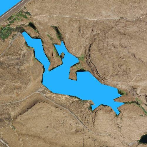Fly fishing map for Corral Lake, Washington