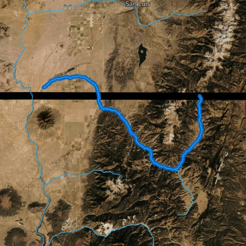 Fly fishing map for Costilla Creek, New Mexico