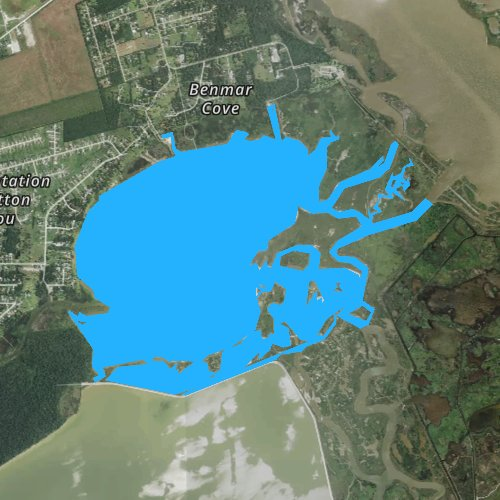 Fly fishing map for Cotton Lake, Texas