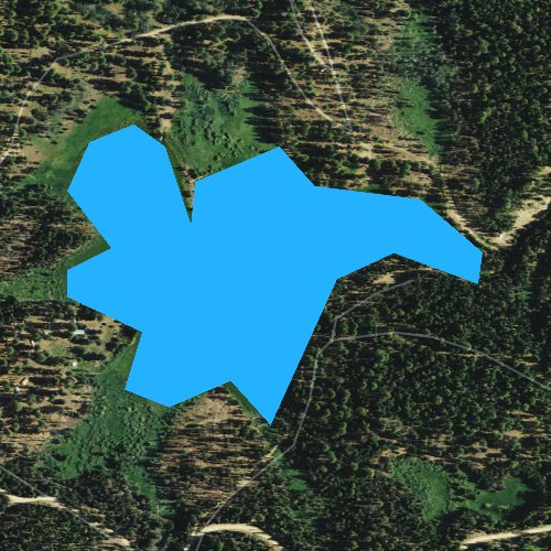 Fly fishing map for Cottonwood Meadow Lake, Oregon
