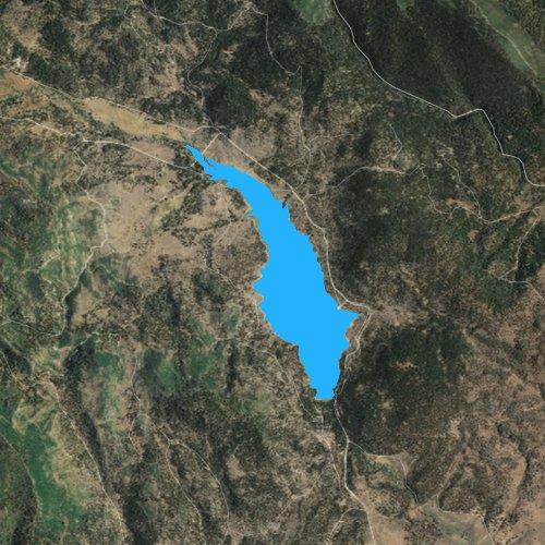 Fly fishing map for Cottonwood Reservoir, Oregon