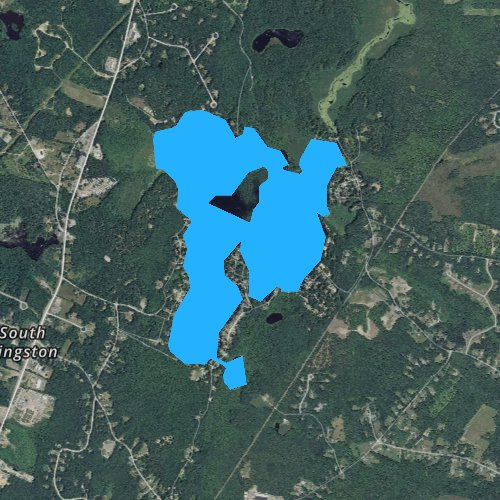 Fly fishing map for Country Pond, New Hampshire