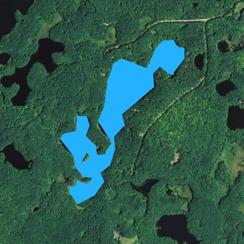 Fly fishing map for County Line Lake, Wisconsin