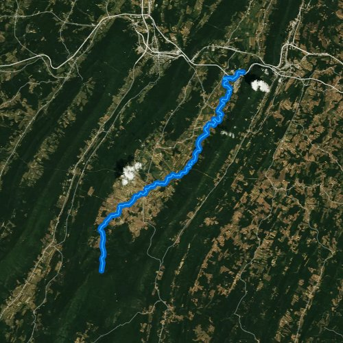 Fly fishing map for Cove Creek, Pennsylvania