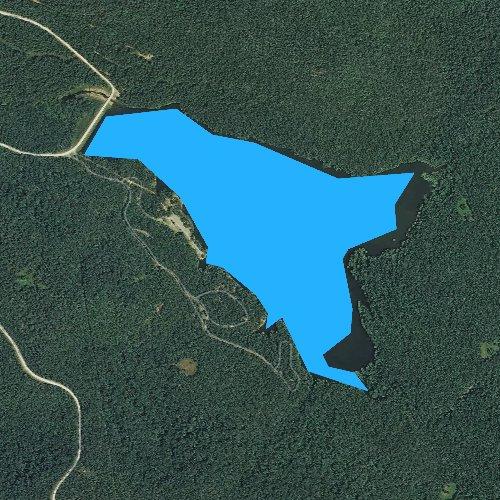 Fly fishing map for Cove Lake, Arkansas