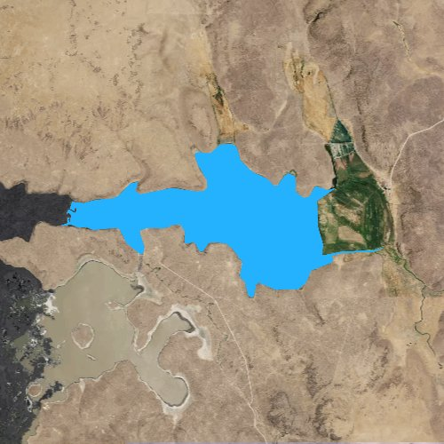 Fly fishing map for Cow Lakes, Oregon