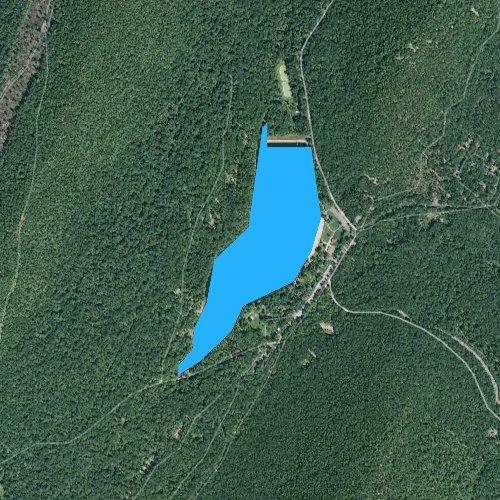 Fly fishing map for Cowans Gap Lake, Pennsylvania