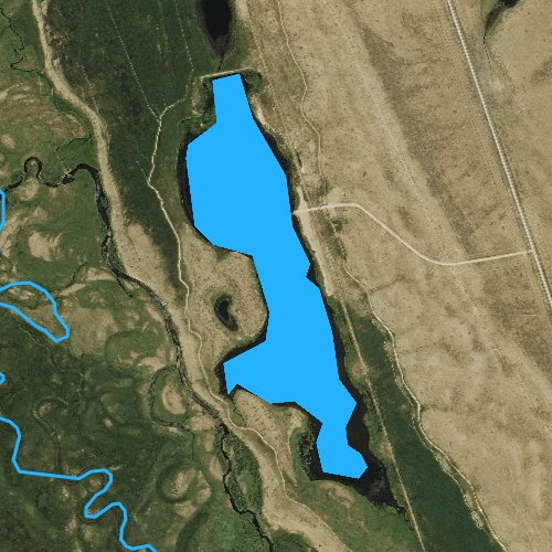 Fly fishing map for Cowdrey Reservoir, Colorado
