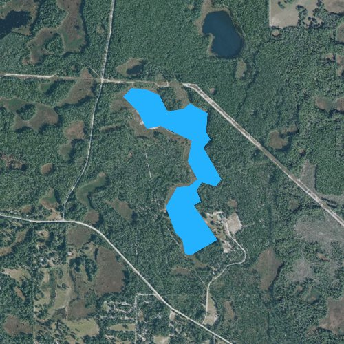 Fly fishing map for Cowpen Pond, Florida