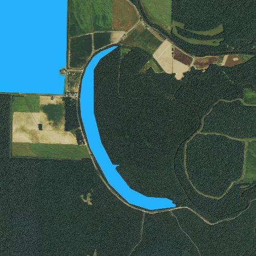 Fly fishing map for Cox Cypress Lake, Arkansas