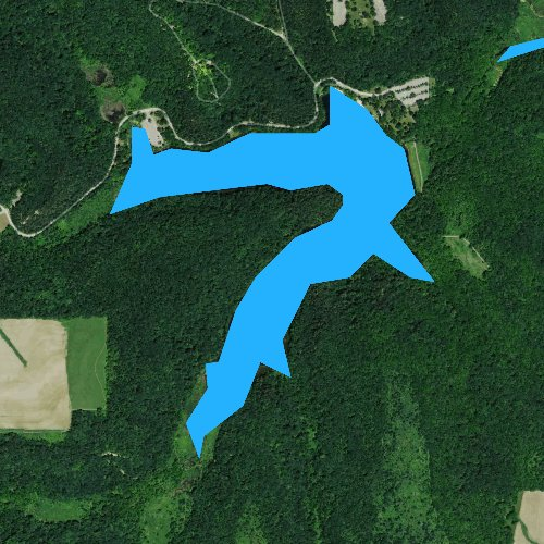 Fly fishing map for Cox Hollow Lake, Wisconsin