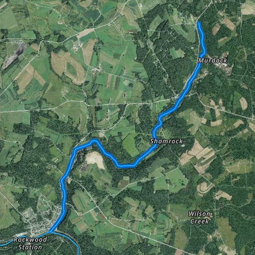 Fly fishing map for Coxes Creek, Pennsylvania