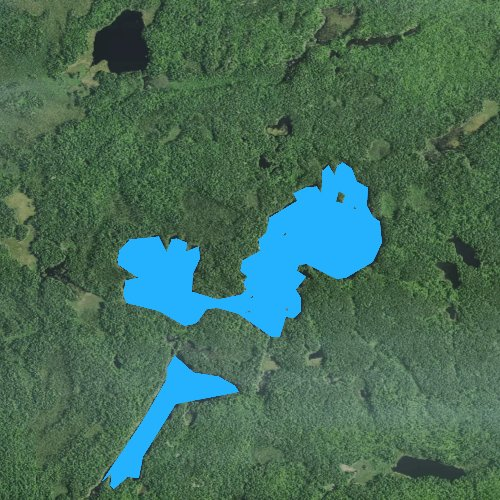 Fly fishing map for Coxey Pond, Minnesota