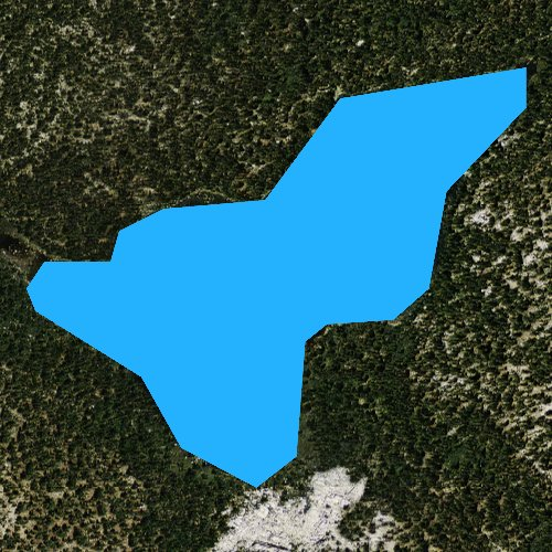 Fly fishing map for Coyote Lake, California