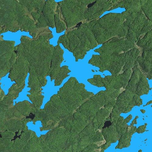 Fly fishing map for Crab Lake, Minnesota