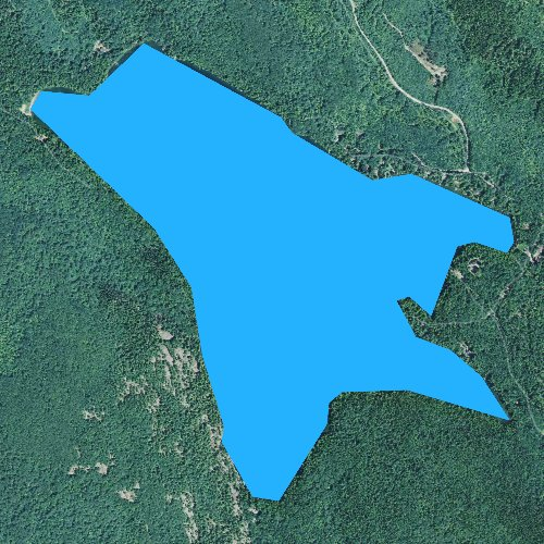 Fly fishing map for Craig Pond, Maine