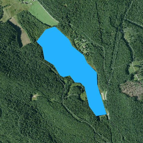 Fly fishing map for Cranberry Glade Lake, Pennsylvania