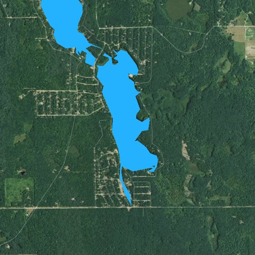 Fly fishing map for Cranberry Lake, Michigan