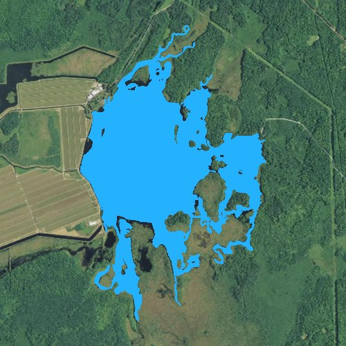 Fly fishing map for Cranberry Lake: Price, Wisconsin