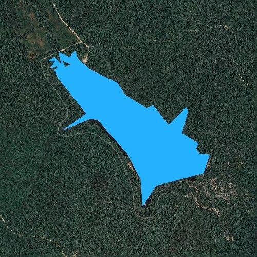 Fly fishing map for Crane Lake, Missouri